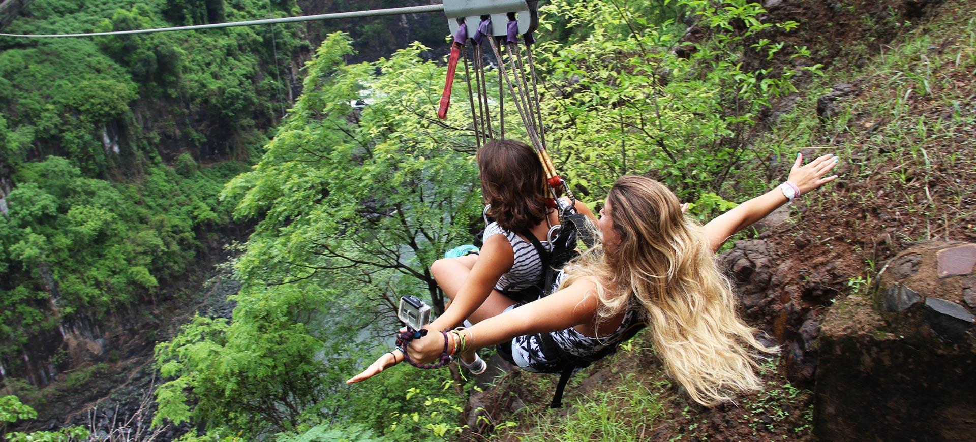 Tandem Bridge Slide Victoria Falls
